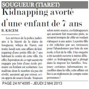 SOUGUEUR -Kidnapping avorté d'une enfant de 7 ans dans Boudali. KACEM kidnaping-300x300